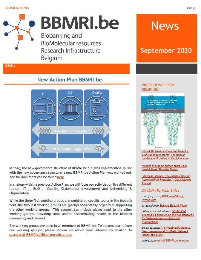 BBMRI.be Newsletter 5 now available!