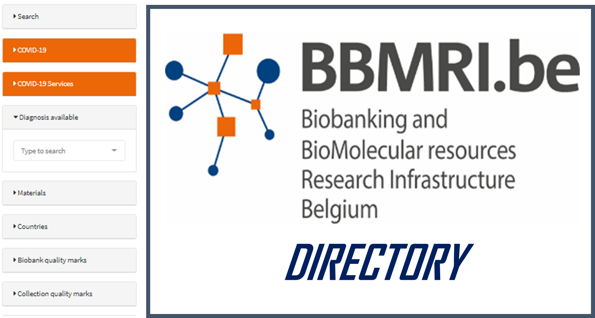 BBMRI.be Directory now available!